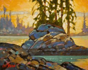 "SOLD ""Sun Drenched Eve,"" by Graeme Shaw 8 x 10 – oil $510 Unframed $670 Custom framed"