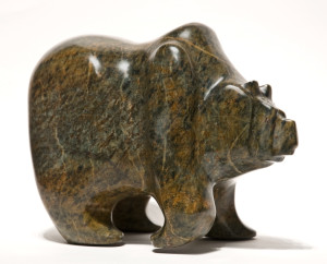 "SOLD ""That Sluggish Feeling,"" by Marilyn Armitage 11"" (L) x 9"" (H) – Soapstone $950"