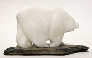 "SOLD ""Tundra Crossing,"" by Marilyn Armitage 13"" (L) x 9"" (H) (figure)   