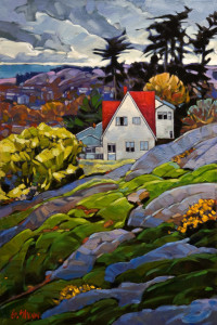 "SOLD ""Victoria View,"" by Graeme Shaw 20 x 30 – oil $2100 (thick canvas wrap without frame)"