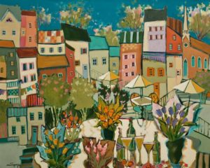 "SOLD ""The Wonderful New Spring,"" by Claudette Castonguay 24 x 30 – acrylic $1400 Unframed"