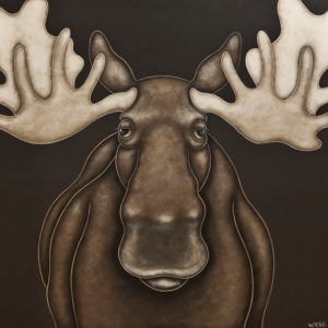 """""""Hello Old Friend,"""" by Peter Wyse 30 x 30 - acrylic $2880 (unframed panel with 1 1/2"""" edging)"""
