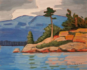 "SOLD ""Howe Sound Afternoon,"" by Nicholas Bott 8 x 10 – oil $1040 Unframed"