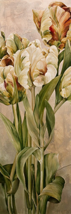 """Nature's Variety,"" by Linda Thompson 12 x 36 - acrylic $1150 Unframed"