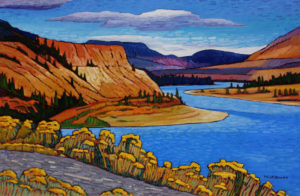 "SOLD ""Thompson River Valley,"" by Nicholas Bott 24 x 36 – oil $4170 Unframed"