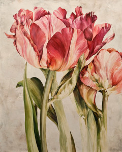 """Unfolding Petals,"" by Linda Thompson 24 x 30 - acrylic $1920 Unframed"