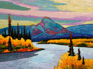 "SOLD ""Yukon Colours,"" by Nicholas Bott 18 x 24 - oil $2375 Unframed"