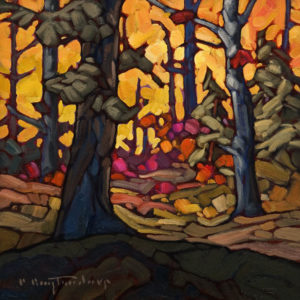 "SOLD ""111 Mile Woodland,"" by Phil Buytendorp 10 x 10 – oil $645 Unframed"