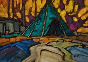 """Arno's Tent,"" by Phil Buytendorp 5 x 7 - oil $500 Unframed $630 Custom framed"