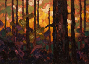 """Autumn Light,"" by Phil Buytendorp 5 x 7 - oil $500 Unframed"