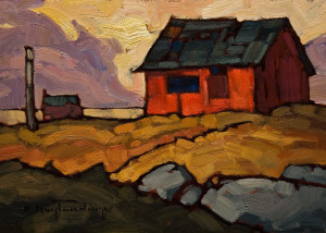 "SOLD ""Cottage,"" by Phil Buytendorp 5 x 7 – oil $500 Unframed $650 Custom framed"