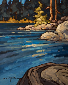 "SOLD ""Edge of the Pool"" 8 x 10 – oil $570 Unframed $765 Custom framed"