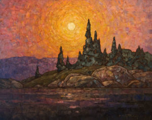 "SOLD ""Northern Sun,"" by Phil Buytendorp 22 x 28 – oil $1980 Unframed"