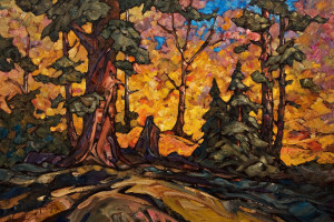 "SOLD ""October Blaze"" 20 x 30 – oil $1935 Unframed"