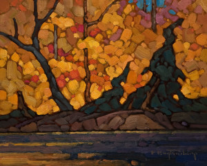 "SOLD ""October Peace,"" by Phil Buytendorp 8 x 10 – oil $570 Unframed $765 Custom framed"