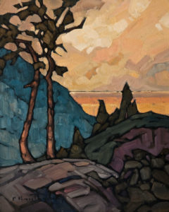 """Over the Lake,"" by Phil Buytendorp 8 x 10 - oil $570 Unframed"
