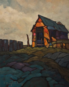 "SOLD ""Prairie Shed,"" by Phil Buytendorp 11 x 14 – oil $930 Unframed"