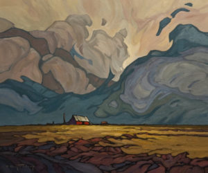"SOLD ""Prairie Solitude,"" by Phil Buytendorp 20 x 24 – oil $1850 Unframed"