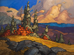 "SOLD ""Rhythmic Sky,"" by Phil Buytendorp 36 x 48- oil $4910 Unframed"