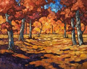 "SOLD ""September Lane,"" by Phil Buytendorp 16 x 20 – oil $1475 Unframed"