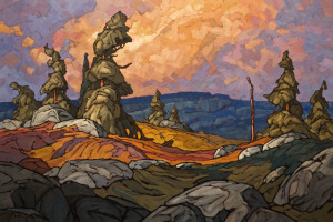 "SOLD ""Sub-Alpine"" 24 x 36 – oil $2900 Unframed"