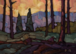 """Two Spruce,"" by Phil Buytendorp 5 x 7 - oil $500 Unframed"
