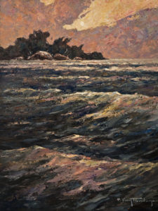 """Wave Action,"" by Phil Buytendorp 12 x 16 - oil $1100 Unframed"