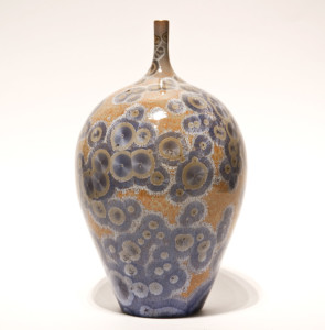 "SOLD Bottle (BB-3548) by Bill Boyd crystalline-glaze ceramic – 6 1/2"" x 5 1/2"" $225"
