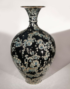 "SOLD Vase (BB-3767) by Bill Boyd crystalline-glaze ceramic - 27"" (H) x 16"" (W) $3800"