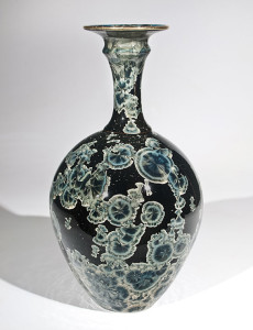 "SOLD Vase (BB-3768) by Bill Boyd crystalline-glaze ceramic – 13 1/2"" (H) x 7"" (W) $650"