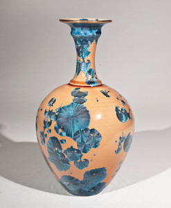 "SOLD Vase (BB-3769) by Bill Boyd crystalline-glaze ceramic – 11 1/2"" (H) x 6"" (W) $450"