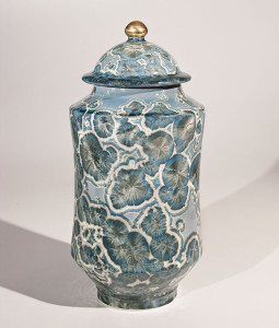 "SOLD Lidded vessel (BB-3773) by Bill Boyd crystalline-glaze ceramic – 12 1/2"" (H) x 6"" (W) $625"