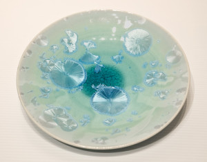 "SOLD Bowl (BB-3777) by Bill Boyd crystalline-glaze ceramic – 9"" (W) $120"