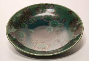 "SOLD Bowl (BB-3781) by Bill Boyd crystalline-glaze ceramic – 8"" (W) $110"