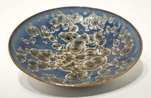 "SOLD Bowl (BB-4062) by Bill Boyd crystalline-glaze ceramic – 13"" (W) $350"