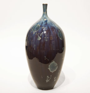 "SOLD Bottle (BB-4069) by Bill Boyd crystalline-glaze ceramic – 10 1/2"" (H) x 5"" (W) $325"