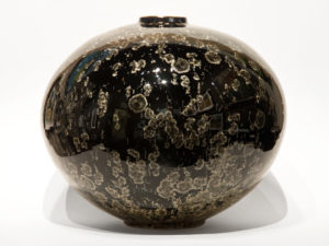 "SOLD Vase (BB-4074) by Bill Boyd crystalline-glaze ceramic - 11 1/2"" (H) x 13"" (W) $1350"