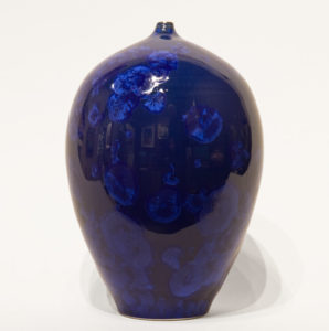 "SOLD Bottle (BB-4165) by Bill Boyd crystalline-glaze ceramic – 8"" (H) x 5 1/2"" (W) $275"