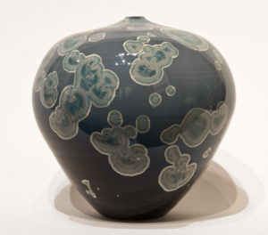 "SOLD Vase (BB-4166) by Bill Boyd crystalline-glaze ceramic – 6 1/2"" (H) x 6 1/2"" (W) $320"