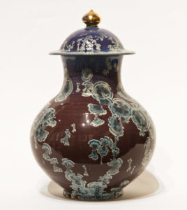 "Lidded vessel (BB-4170) by Bill Boyd crystalline-glaze ceramic - 11 1/2"" (H) x 7 1/2"" (W) $600"