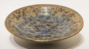"SOLD Bowl (BB-4171) by Bill Boyd crystalline-glaze ceramic – 14"" (W) $500"