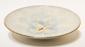 "SOLD Bowl (BB-4172) by Bill Boyd crystalline-glaze ceramic – 15"" (W) $600"