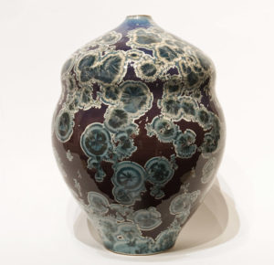 "SOLD Vase (BB-4173) by Bill Boyd crystalline-glaze ceramic – 11 1/2"" (H) x 8 1/2"" (W) $650"