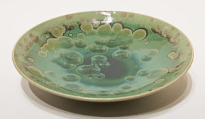 "SOLD Bowl (BB-4174) by Bill Boyd crystalline-glaze ceramic – 12"" (W) $250"