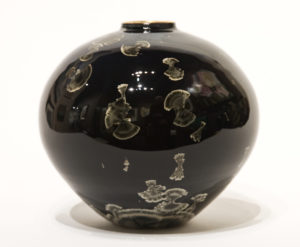 "SOLD Vase (BB-4181) by Bill Boyd crystalline-glaze ceramic – 6"" (H) x 6"" (W) $300"