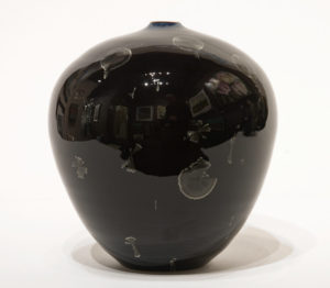 "SOLD Vase (BB-4182) by Bill Boyd crystalline-glaze ceramic – 7"" (H) x 6"" (W) $300"