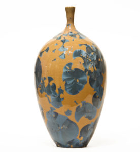 "SOLD Vase (BB-4200) by Bill Boyd crystalline-glaze ceramic – 8"" (H) x 4"" (W) $250"