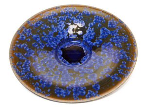 "SOLD Wall-hang bowl (BB-4226) by Bill Boyd crystalline-glaze ceramic – 20"" (W) $950"