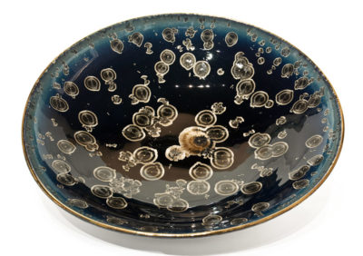"SOLD Bowl (BB-4231) by Bill Boyd crystalline-glaze ceramic - 20"" (W) $1100"