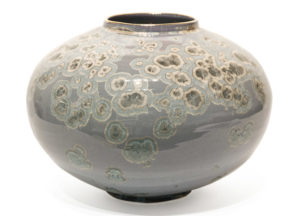 "SOLD Vase (BB-4244) by Bill Boyd crystalline-glaze ceramic - 7"" (H) x 10"" (W) $525"